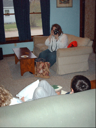 Ann K. photographing the kids