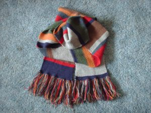 Season 12 Doctor Who Scarf, fringe and all